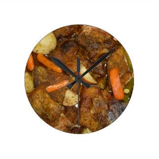 diseño cocido horno de la comida de las patatas de reloj redondo mediano