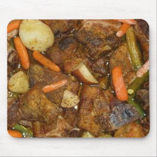 diseño cocido horno de la comida de las patatas de alfombrillas de ratones