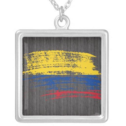 Diseño colombiano fresco de la bandera pendiente personalizado