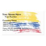 Diseño colombiano fresco de la bandera tarjetas de visita