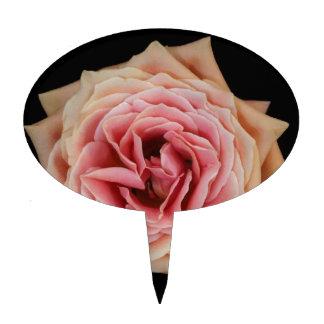 Diseño color de rosa de la foto del arte decoración para tarta