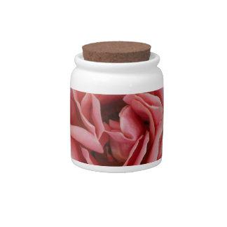 Diseño color de rosa de la foto del arte plato para caramelo