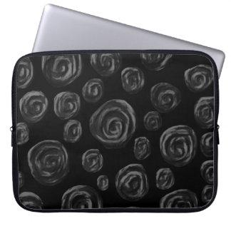 Diseño color de rosa negro del modelo mangas portátiles