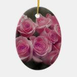 Diseño color de rosa rosado de la fotografía del adorno de navidad