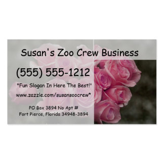 Diseño color de rosa rosado de la fotografía del m tarjeta de visita