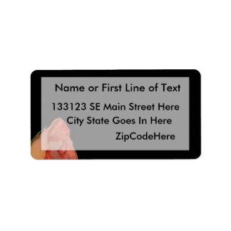 Diseño color de rosa rosado del fondo del negro de etiqueta de dirección