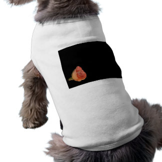 Diseño color de rosa rosado del fondo del negro de playera sin mangas para perro