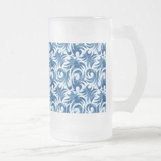 diseño coloreado azul del remolino taza de cristal