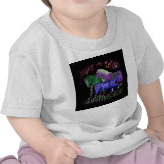 Diseño coloreado fantástico del caballo, parte camisetas