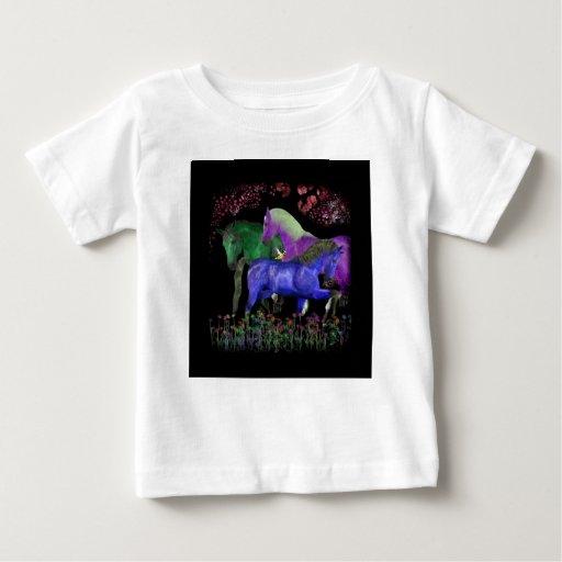 Diseño coloreado fantástico del caballo, parte playeras