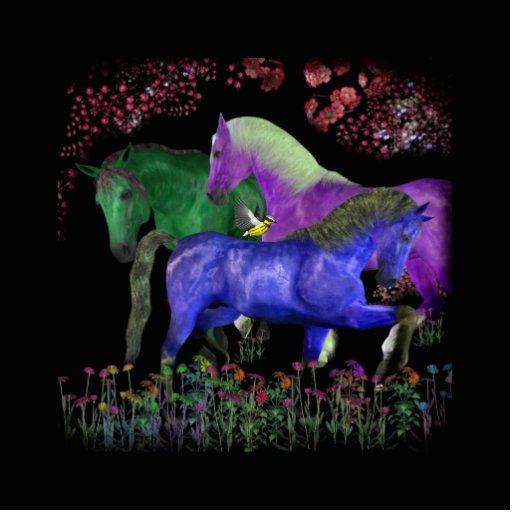 Diseño coloreado fantástico del caballo, parte pos escultura fotográfica