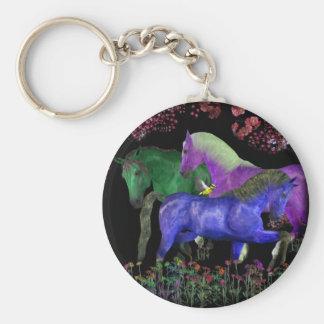 Diseño coloreado fantástico del caballo, parte pos llavero redondo tipo pin