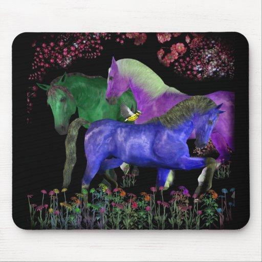 Diseño coloreado fantástico del caballo, parte pos tapete de ratón