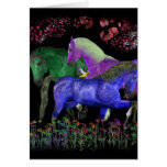Diseño coloreado fantástico del caballo, parte pos tarjeta