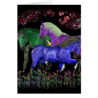 Diseño coloreado fantástico del caballo, parte tarjeta de felicitación