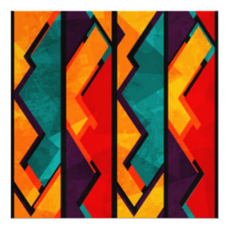 Diseño coloreado multi africano de la impresión fotografía