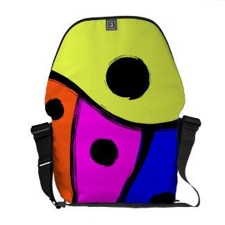 Diseño coloreado multi brillante del extracto bolsas messenger