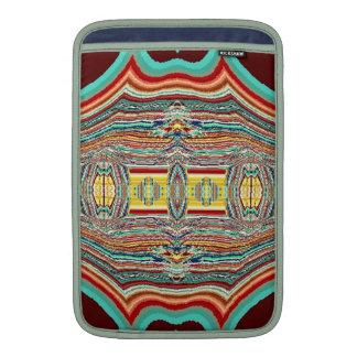 Diseño coloreado multi del nativo americano fundas MacBook