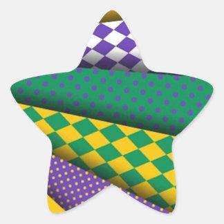 Diseño coloreado New Orleans de Flor de la flor de Pegatina En Forma De Estrella