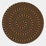Diseño coloreado remolino óptico etiqueta redonda