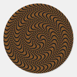 Diseño coloreado remolino óptico pegatina redonda