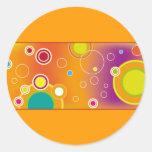 Diseño colorido 04 pegatina