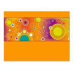 Diseño colorido 04 postales