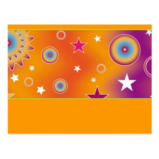 Diseño colorido 07 tarjetas postales