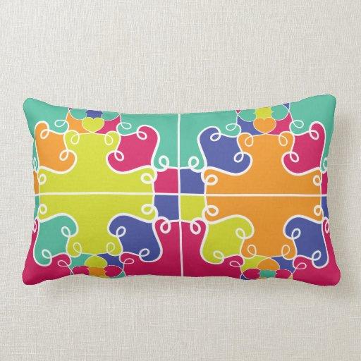 Diseño colorido abstracto cojin