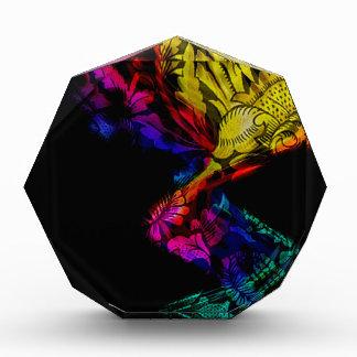Diseño colorido abstracto con damasco