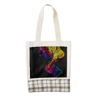 Diseño colorido abstracto con damasco bolsa tote zazzle HEART