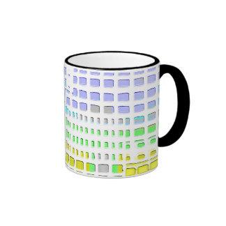 Diseño colorido abstracto tazas de café