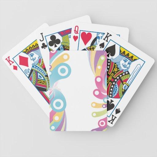 Diseño colorido adaptable de los círculos baraja de cartas bicycle