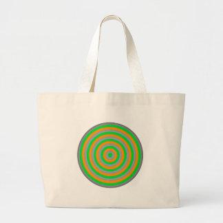 Diseño colorido adaptable del círculo concéntrico bolsa tela grande