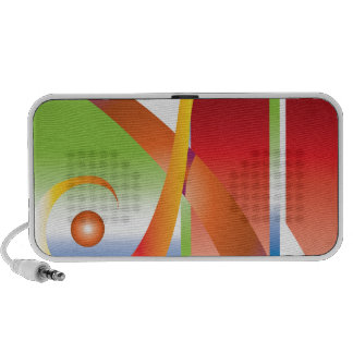 Diseño colorido altavoz de viajar