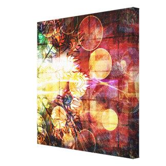Diseño colorido bonito de las plumas del pavo real impresión en lienzo estirada