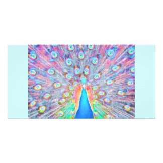 Diseño colorido brillante del alcohol del *Peacock Tarjeta Personal