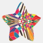 Diseño colorido calcomanías forma de estrellaes