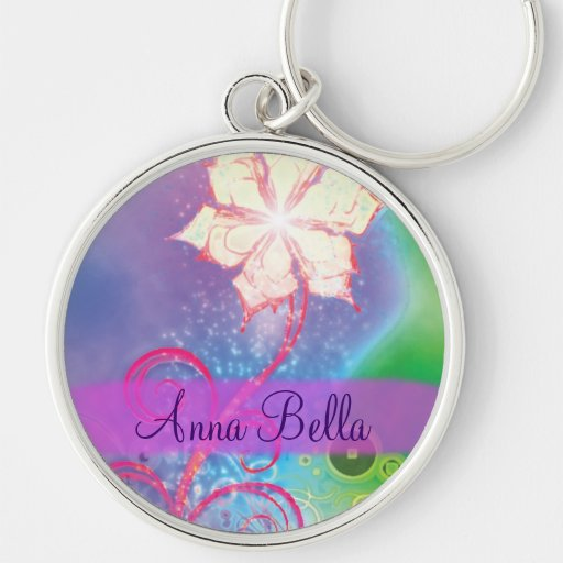Diseño colorido chispeante bonito de la flor de la llavero