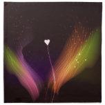 Diseño colorido + Corazón Servilletas