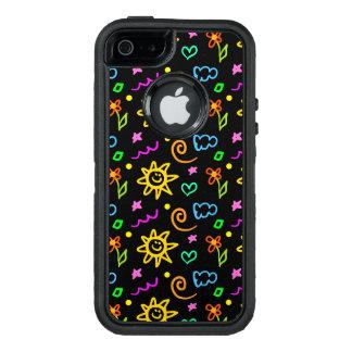 Diseño colorido de fondo para los niños funda otterbox para iPhone 5/5s/SE