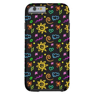 Diseño colorido de fondo para los niños funda para iPhone 6 tough