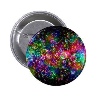Diseño colorido de la burbuja pin redondo de 2 pulgadas