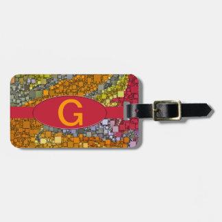 Diseño colorido de la caja del ramo de la caída etiqueta para maleta