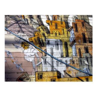 Diseño colorido de la casa de la pintada en San Tarjeta Postal