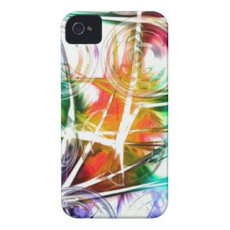 Diseño colorido de la estrella iPhone 4 protector