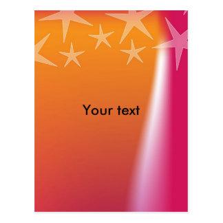 Diseño colorido de la estrella tarjeta postal