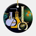 Diseño colorido de la física E=mc2 Adornos De Navidad