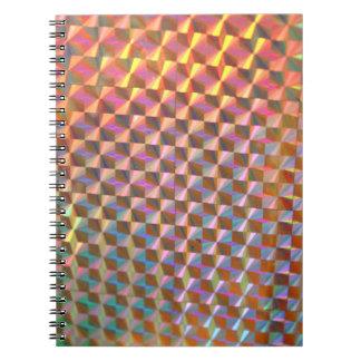diseño colorido de la fotografía olográfica del libretas espirales