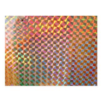 diseño colorido de la fotografía olográfica del postales